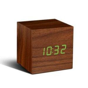 【あす楽】Cube Click Clock(キューブクリッククロック)ナチュラルウッド【LED時計】【置時計 おしゃれ】【置時計 アンティーク】【置時計 デジタル】【置時計 アラーム】【目覚まし時計】