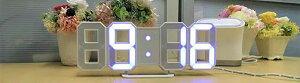 [あす楽]暗闇に文字が浮かぶTriClock光る時計デジタルおしゃれデザイン時計インテリアLED時計スタイリッシュウォールクロック数字時計3D