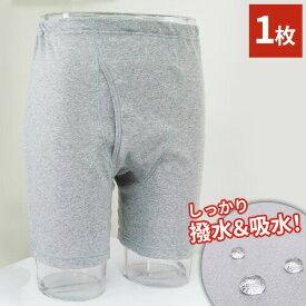 送料無料 【1枚単品】[S~3L] 紳士しみ出し防止ロングパンツ 紳士 男性 男性用 メンズ パンツ ロング 下着 インナー 紳士下着 抗菌 消臭 清潔 【代引不可】