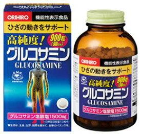 【1個】オリヒロ 高純度 グルコサミン粒お得900粒 グルコサミン コンドロイチン 発酵コラーゲン分解物など骨・軟骨のサポート成分も配合 2型 潤いに重要なヒアルロン酸を、骨の強化目的では大豆胚芽抽出物、VK2を、その他ビタミン・ミネラル類 葉酸を配合