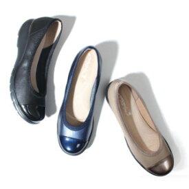 ラックラック 空飛ぶパンプス エナメルバイカラー レディース シューズ 靴 撥水 軽量 選べるサイズ 選べるカラー 4センチヒール 疲れにくい 立体インソール【代引不可】