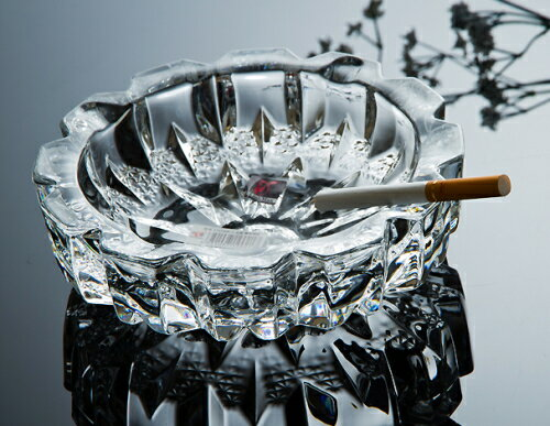 送料無料 G-HOUSE(ジーハウス) ファッション デザイン 高品質ガラス製灰皿 HM-0741(12cm) 【 GMS00783-S 】