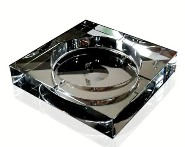 送料無料 高級クリスタルガラス灰皿 HM-0024(10cm) 【父の日】 【 GMS00080-10 】 【SUMMER_D18】