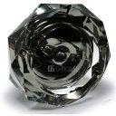 【送料無料 ※沖縄・離島除く 】【対象商品ポイント15倍】 GMS00853-12 高級 クリスタル ガラス製 灰皿 ブラック HM-0…