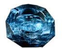 【送料無料】G-HOUSE(ジーハウス) 高級クリスタルガラス タバコ 葉巻 灰皿 HM-0028(15cm) 【プレゼント】【 お祝い】【 記念品】【ギフト用...