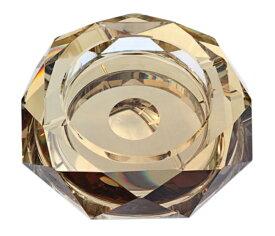 【対象商品ポイント15倍】【スーパーDEAL開催中】GMS00484 高級クリスタルガラス製 灰皿 ゴールド 15cm HM-0442-S 【プレゼント】【 お祝い】【 記念品】【ギフト用】 【 灰皿 ガラス おしゃれ デザイン モダン】【父の日】G-HOUSE(ジーハウス)