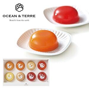 OCEAN & TERRE PremiumフルーツゼリーセットC(C1247-077)(A086) ■北海道赤肉メロン(72g)×2 福岡県あまおう苺(72g)×2 青森県りんご(72g)×1 山形県さくらんぼ(72g)×1 山形県ラ・フランス(72g)×1