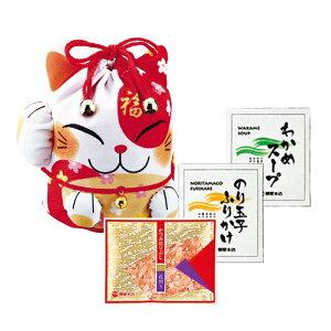 【柳屋本店】 福ねこ CK-10 花削り のり玉子ふりかけ わかめスープ 引き出物 お返しギフト 内祝い