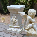 【アンジェロ】ローマスタンドローズ コラムバラ雑貨天使オブジェを載せる台座エントランス【あす楽 】妖精・薔薇 姫