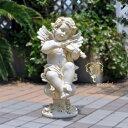 【アンジェロ】ガーデニング天使置物バイオリン送料無料【あす楽】バラ雑貨天使オブジェエントランス 妖精・薔薇 姫 …