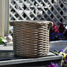 バスケットプランターM(穴あき) ガーデニング ガーデン 雑貨 おしゃれ 置物 ギフト対応 あす楽 おうち時間 大人かわいい雑貨