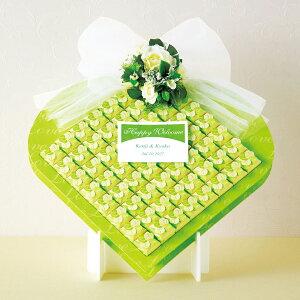 クローバーボックス60個セット 名入れ 大人可愛い プチギフトセット キャンディ 飴 ウェルカムボード プレ花嫁 四つ葉