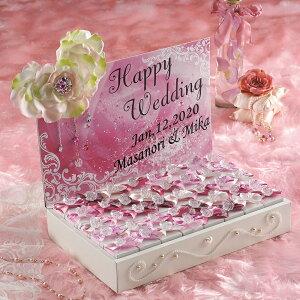 ジュエリー・ルビー(ハートパイ) 40個セット プチギフト 結婚式 ウェディング 披露宴 名入れ オーダー お菓子 ピンク ハートパイ