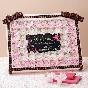 フェリシアローズ 48個セット プチギフト 結婚式 ウェディング 披露宴 名入れ オーダー お菓子 ドラジェ 花 フラワー ピンク ドット 大人可愛い ローズ バラ 薔薇