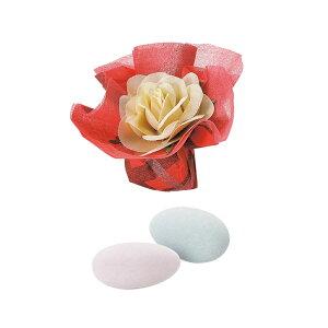 ボルドーローズ 1個 プチギフト お菓子 結婚式 披露宴 イベント 景品 粗品 バラマキ 薔薇 ドラジェ 赤 真紅 花 フラワー お返し ウエディング 二次会 プレゼント[HF]