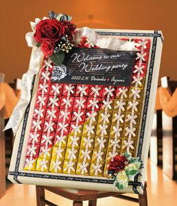 ブリリアント・ローゼ(ハートパイ) 68個セットプチギフト 結婚式 ウェディング ブライダル 披露宴 名入れ オーダー お菓子 ウェルカムボード ゴールド レッド ボード