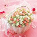 ローズドラジェ 50本セット(バスケット付) プチギフト 結婚式 披露宴 ウェディング ブライダル 2次会 かご付き お花 …
