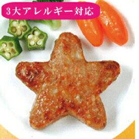 【うす味】スターハンバーグ40g(25個入り)【3大アレルギー対応(卵・乳・小麦不使用)夕食 子供のおやつ イベント 行事 学校給食】