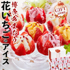 花いちごのバラエティアイス(博多あまおう)11個入り 高級苺・いちごフェアー 送料無料 ※離島・沖縄・北海道は配送不可