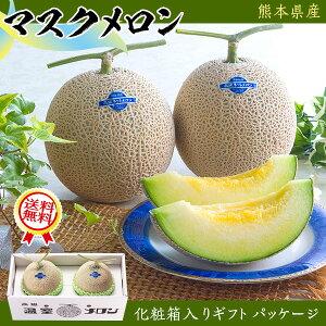 マスクメロン 2玉(1.4kg×2) 合計2.8kg・贈答用「果物の王様」百貨店品質の高級品・ギフト・送料無料