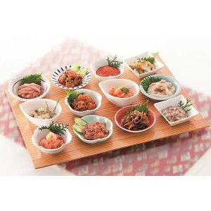 12種の味を詰め合わせギフト「箱館十二単」イカの塩辛、松前漬、数の子など12種類・お中元でもOK・送料無料