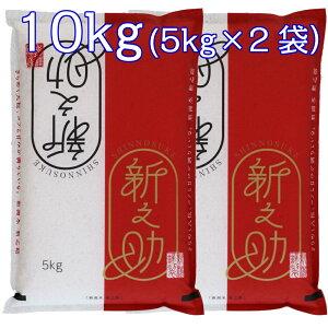 【受注精米】お米 10kg 新潟県産 新之助 (5kg×2袋) 04A 10キロ 産地直送米 白米 精米 コメ ギフト 贈答 紅白 五ツ星マイスター厳選