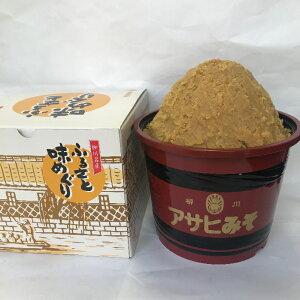 福岡県柳川 アサヒ醸造ふるさと味めぐり漆器樽入り合せ味噌 3kg(化粧箱)(3kg:合せみそ)【送料込み価格】