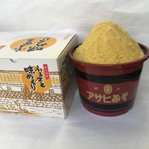 福岡県柳川 アサヒ醸造ふるさと味めぐり漆器樽入り米味噌 3kg(化粧箱)(3kg:米みそ)【送料込み価格】
