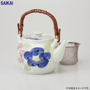 二色廻り花 MS8号土瓶(1400ml)(タイ製)1個入(ダンボール箱入)(39258)クラシノウツワ【送料込み価格】