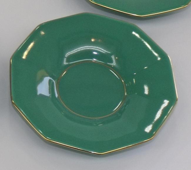 香蘭社茶托 <グリーン 角型> 5枚セット(G410-RAA)