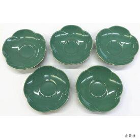 香蘭社茶托 <グリーン> 5枚セット(G410-RB)