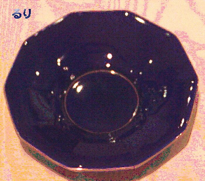 香蘭社茶托 <ルリ 角型> 5枚セット(R410-RAA)
