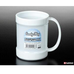 【おまとめ割】【メーカー直送品】100個セット キャンディマグ ホワイト 300ml マグカップ nakaya K558-6AR【c】
