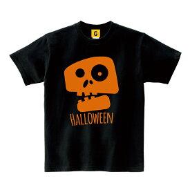 """ハロウィン 仮装 衣装 大きいサイズ 子供 コスプレ """"はらぺこガイコツ""""Tシャツ halloween 地味ハロウィン"""