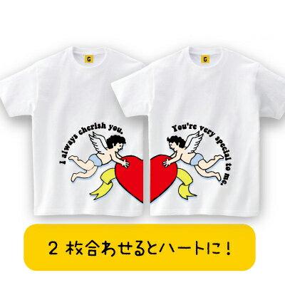 天使のペアTEEカップル夫婦ペアTシャツ