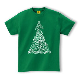 クリスマスツリー ★リーフ★ツリー イラスト Tシャツ クリスマスパーティー衣装
