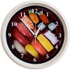 Wall hangings clock (interesting clock) of sushi