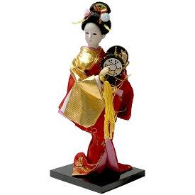 日本人形 鼓(つづみ) 美人(9インチ)約24cm【日本のおみやげ】【日本のお土産】【外国人への贈り物】【ホームステイのおみやげ】【日本土産】縁起物 インテリア