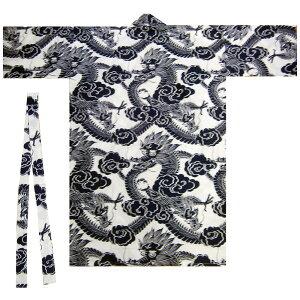 綿伴天 ハッピローブ ドラゴン 竜42W LLサイズ【日本のおみやげ】【日本土産】【ハッピ ローブ ガウン】【ねまき】【ホームステイのおみやげ】【日本のお土産】大きいサイズ