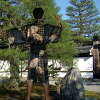 外国人 シルクハッピローブ 风扇龙和富士山黑