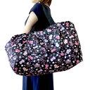キティちゃん ボストンバッグ 黒 ミニバッグ付きキャリーオンバッグ 旅行鞄 travering bag軽量 トラベルバッグ キティ…