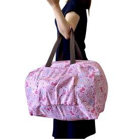 キティちゃん ボストンバッグ ピンク ミニバッグ付きキャリーオンバッグ 旅行鞄 travering bag軽量 トラベルバッグ キティ バッグ サンリオ 送料無料