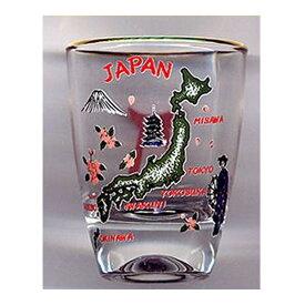 和柄ショットグラス日本地図【ショットグラス】【日本のおみやげ】【日本のお土産】【外国へのお土産】【ホームステイのおみやげ】【ワイン酒日本酒】