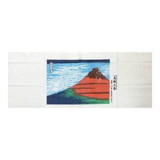 Japanese towel Hokusai Katsushika red Fuji