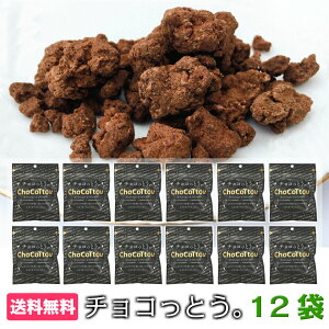 【スーパーSALE 30%OFF】送料無料 黒糖 スイーツ ココア味 12袋入 お菓子 チョコ チョコレート 沖縄 黒糖菓子 ココア ポイント消化 まとめ買い おやつ ちょこっとう