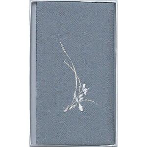 風呂敷 おしゃれ 箱入 | 京の風 ちりめん刺繍入り 念珠袋付金封ふくさ | 袱紗 1232 グレー | ふくさ |