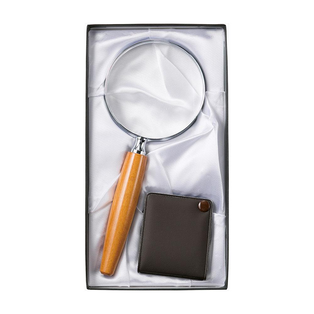 名入れ対応可 拡大鏡拡大鏡ギフトセット G-25 プレゼント 退職記念 卒業記念