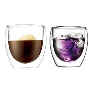 マグカップ タンブラー おしゃれ | ボダム カフェグッズ パヴィーナ ダブルウォールグラス (2個入り) 4558-10 | ビアグラス ジョッキ | お祝い 結婚 婚礼 記念日 家飲みグラス