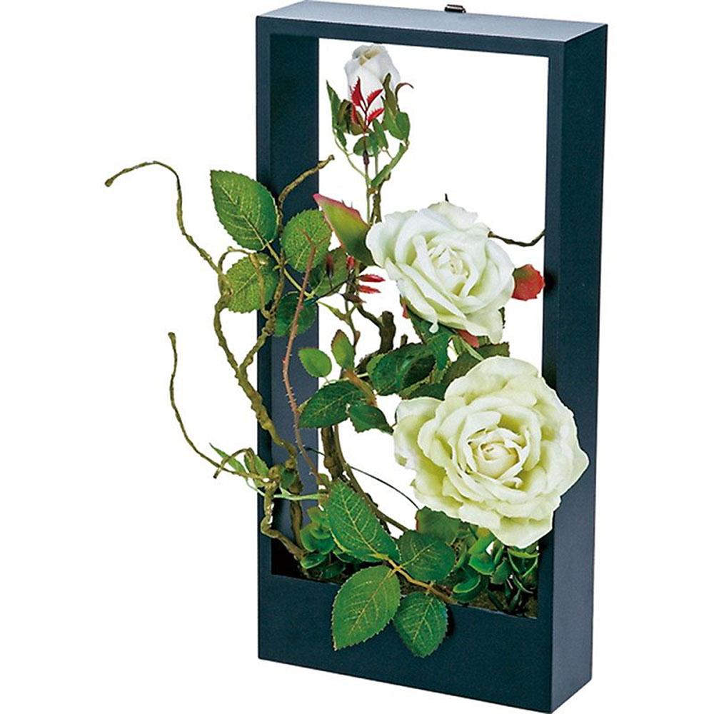 アレンジメント 名入れプレート付 ウォール フラワー アート ローズ グリーン ご出産祝い ご結婚祝い 婚礼 長寿 記念品