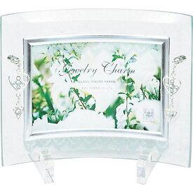 フォトフレーム ガラス ご結婚祝い かわいい /ジュエリーチャーム ガラス フォトフレーム (1ウィンドー) 卓上用 GF-01551